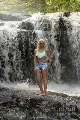 Photograph - Ally In Fornt Of Waterfall by Dan Friend