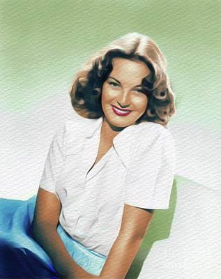 Painting - Alma Carroll, Vintage Movie Star by John Springfield