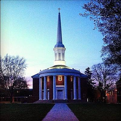 Photograph - Alma College Dunning Memorial Chapel Dusk by Chris Brown