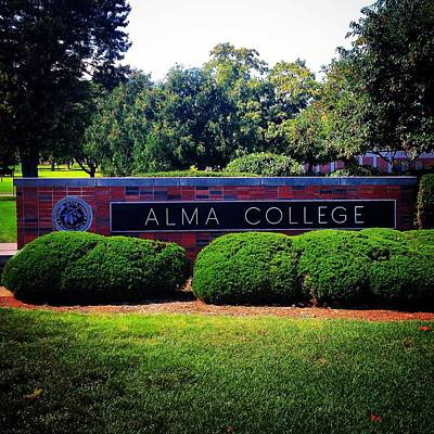 Photograph - Alma College Sign by Chris Brown
