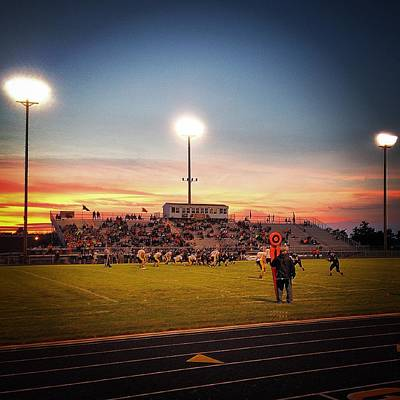 Photograph - Alma High School Don Miller Field Driving Into The Sunset by Chris Brown