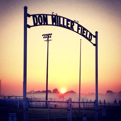Photograph - Alma High School Don Miller Field Sunrise Sign by Chris Brown