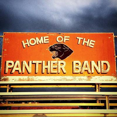 Photograph - Alma High School Panther Band Sign by Chris Brown