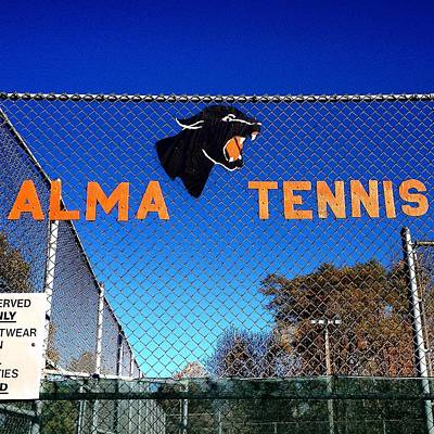 Photograph - Alma High School Tennis Courts by Chris Brown
