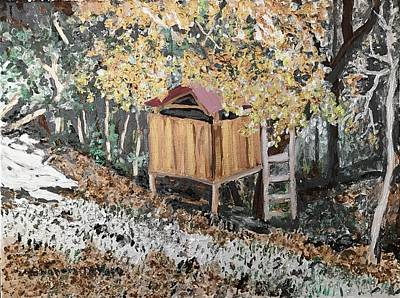 Arkansas Painting - Alma House Tree House Metallic by Sharon De Vore