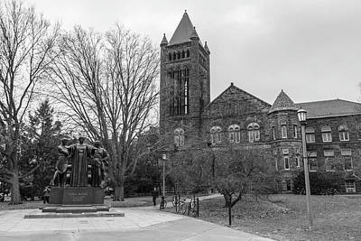 Photograph - Alma Mater And Law Library University Of Illinois  by John McGraw