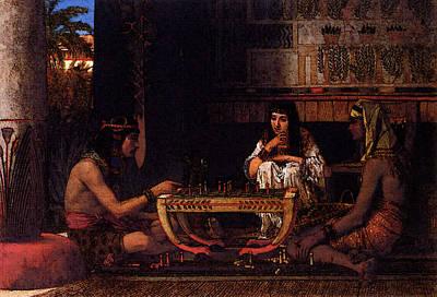 Alma Tadema Egyptian Chess Players Art Print by Lawrence Alma Tadema