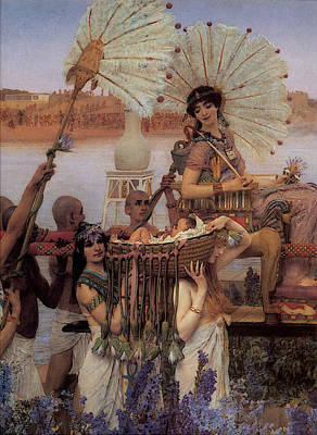 Digital Art - Alma Tadema The Finding Of Moses  by Sir Lawrence Alma Tadema