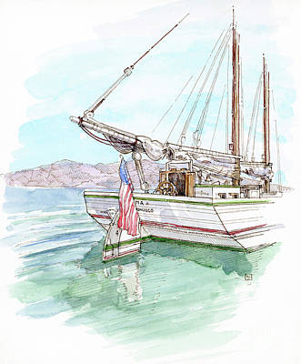 Scow Painting - Alma by Tom Taneyhill