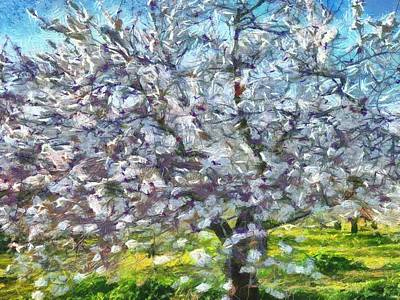 Painting - Almond Blossom by Tracey Harrington-Simpson