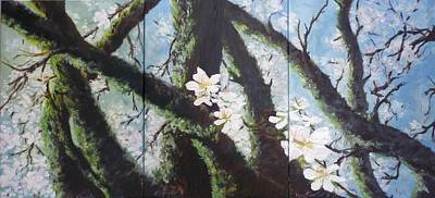 Pittsburgh According To Ron Magnes - Almond Blossom Triptych by Lizzy Forrester
