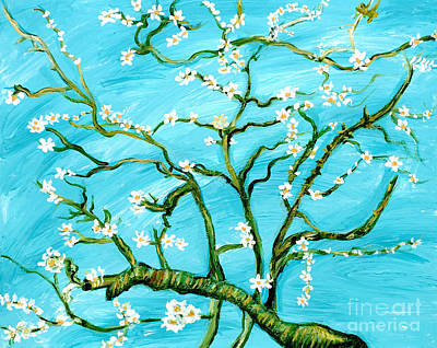 Van Gogh Blossoming Almond Tree Painting - Almond Blossoms by Art by Danielle