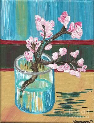 Almond Blossoms In A Glass Original by Melissa Vijay Bharwani
