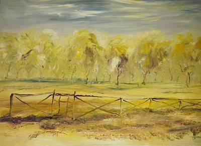 Almond Trees In Summer Art Print by Edward Wolverton