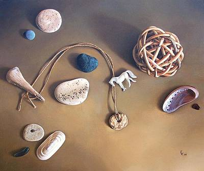 Almost Forgotten Memories Art Print by Elena Kolotusha