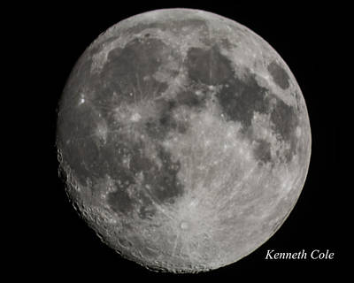 Photograph - Almost Full Moon by Kenneth Cole