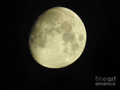 Photograph - Almost Full Moon  by Ruth Housley
