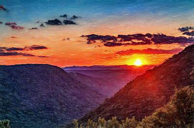 Beam Digital Art - Almost Heaven - West Virginia Paint by Steve Harrington