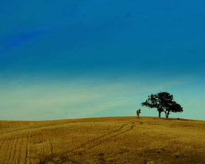 Wheat Field Sky Photograph - Almost Home by Kerry Reed