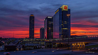 High School Of Art And Design Photograph - Almost Night Atlanta Midtown Cityscape Art by Reid Callaway