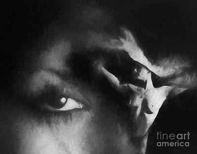Drawing - Almost Perfect - Charcoal by Robert Gaines