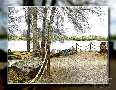 Digital Art - Almost Spring At Lafayette Lake by Deborah Nakano