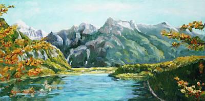 Painting - Almsee by Ingrid Dohm