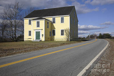 Rural Maine Roads Photograph - Alna Meetinghouse - Alna Maine Usa by Erin Paul Donovan