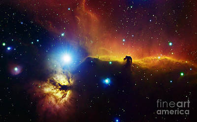 Ic Images Photograph - Alnitak Region In Orion Flame Nebula by Filipe Alves