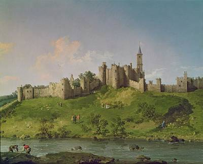 Moat Painting - Alnwick Castle by Canaletto