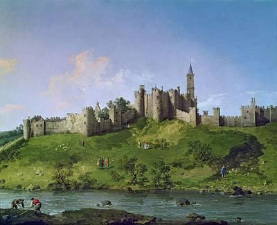 Alnwick Castle Art Print by Giovanni Antonio Canaletto
