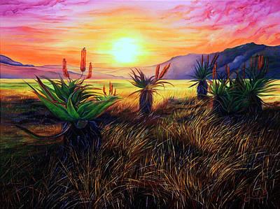 Aloe Vera Painting - Aloe Aloe ... Is Anybody There by Luna Vermeulen