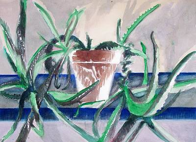 Painting - Aloe by Liz Adkinson