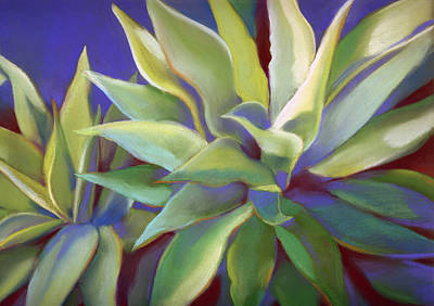 Painting - Aloe Plants In Big Sur by Linda Ruiz-Lozito