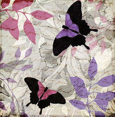 Pink And Purple Painting - Aloft II by Mindy Sommers