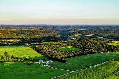 Photograph - Aloft In An Ultralight Over New Bethelem, Pennsylvania by Kay Brewer