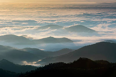 Photograph - Blue Ridge Mountains NC - Aloft by L A Patterson