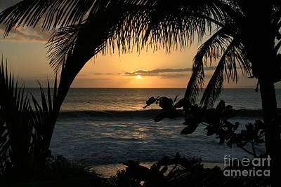 Aloha Aina The Beloved Land - Sunset Kamaole Beach Kihei Maui Hawaii Art Print