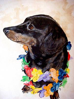 Dachshund Painting - Aloha by Carol Blackhurst