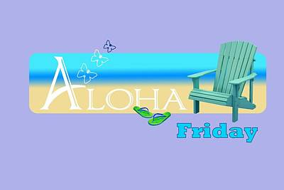 Painting - Aloha Friday by Donna Cervelli