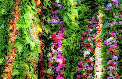 Photograph - Aloha Hawaii Flower Lei's by D Davila