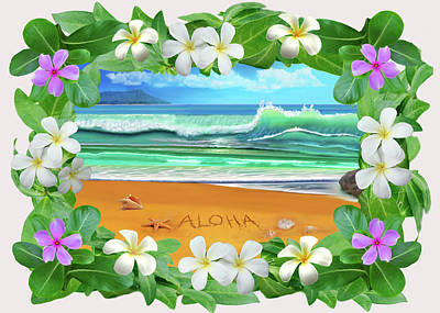 Digital Art - Aloha Hawaii by Glenn Holbrook