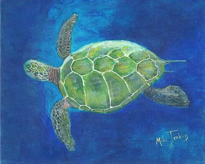 Painting - Aloha Honu by Mike Jenkins