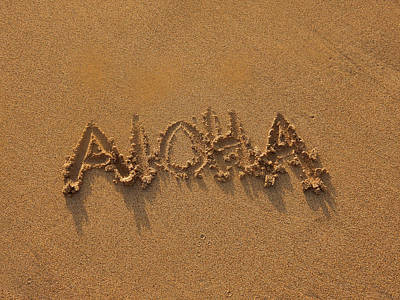 Aloha In The Sand Art Print by Pamela Walton