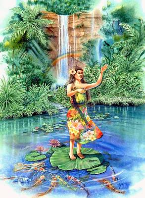 Hawaii Hula Dancer Painting - Aloha by John YATO