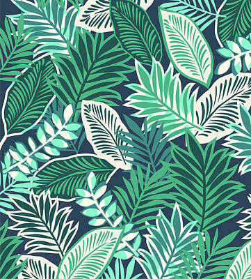 Jungle Drawing - Aloha Jungle Vibes by Arte Flora Design Studio