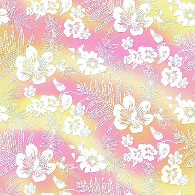 Digital Art - Aloha Lace Passion Guava Sorbet by Karen Dyson