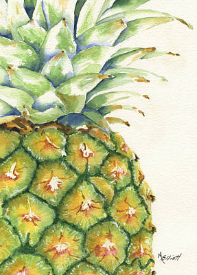 Pineapple Painting - Aloha by Marsha Elliott