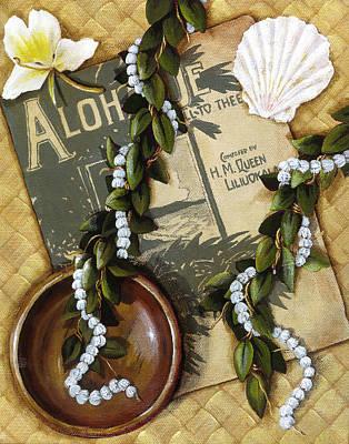 Painting - Aloha Oe by Sandra Blazel - Printscapes