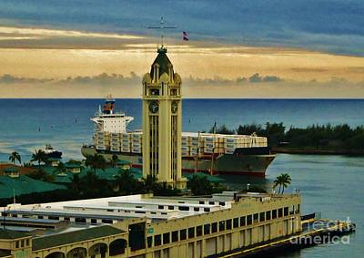Photograph - Aloha Tower Six Ten Pm by Craig Wood